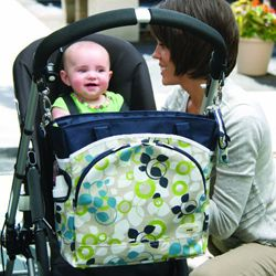 JJ Cole Mode Diaper Tote in Blue Vine