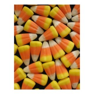 Halloween Candy Corn Custom Letterhead