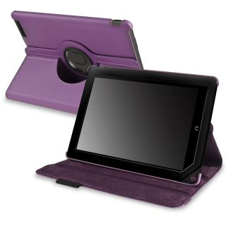 This item BasAcc Purple Leather Swivel Case for Barnes & Noble Nook