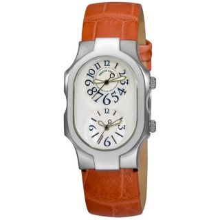 Philip Stein Womens Signature Rose Strap Dual Time Watch