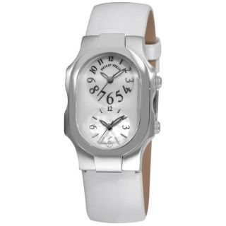 Philip Stein Womens Signature White Strap Dual Time Watch