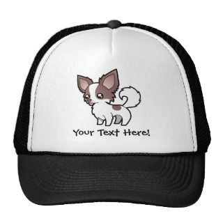 Cartoon Chihuahua (lilac parti long coat) hats by SugarVsSpice