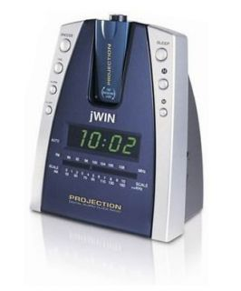 JWIN Projection & LED Alarm Clock Radio (Case of 2)