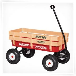 Radio Flyer All Terrain Steel & Wood Wagon   32   Kids Wagons at
