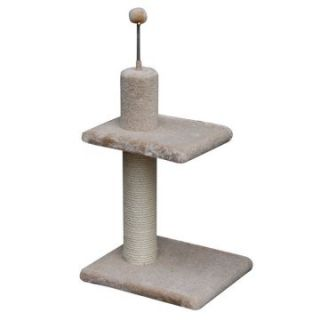 PetPal 14 x 12 x 21 in. 2 Level Sisal Post with Attached Teaser   Cat