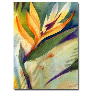 Sheila Golden Bird of Paradise Canvas Art