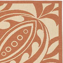 Indoor/ Outdoor Andros Natural/ Terracotta Rug (710 Square