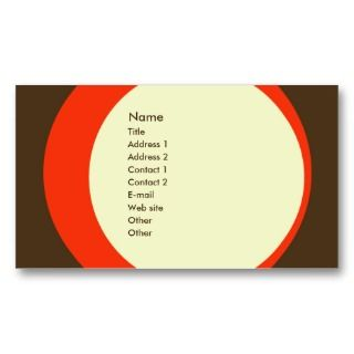 Modern Retro Business/Networking Profile Card Business Card