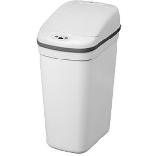 White Plastic Motion Sensor 7.1 gallon Trash Can