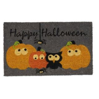 DII Happy Halloween Spooks & Hoots 18 x 30 in. Coir Doormat   Outdoor