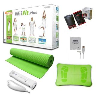 Nintendo Wii Fit Plus Super Bundle   Green