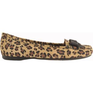 Womens Anne Klein Krantz Black Multi Leopard