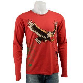 Ed Hardy Mens Flying Eagle Long sleeve Shirt