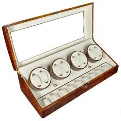 Steinhausen 4 mode Eight Cherry Lacquer Coated Wood Watch Winder