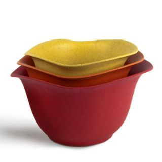 Architec Eco Smart Purelast Mixing Bowl Set   Red to Yellow   Mixing