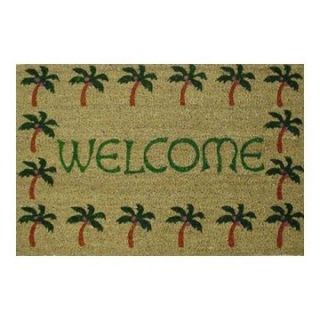 Palm Tree Welcome Outdoor Doormat   Outdoor Doormats
