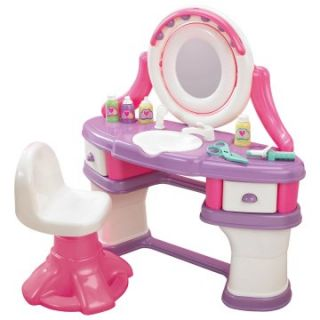 American Plastic Toys Beauty Salon Vanity   Kids Furniture at