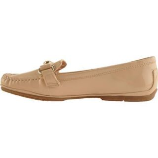 Womens Anne Klein Ewen Natural Patent Synthetic