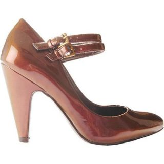 Womens Jessica Simpson Manning Rugged Brown Iridescent Patent