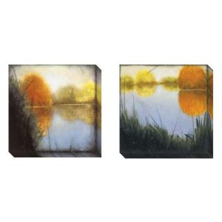 St. John Autumn Marsh Set of 2 Gallery wrapped Canvas Art Set