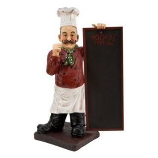 Aspire 36H in. Restaurant Chef Statue with Todays Specials