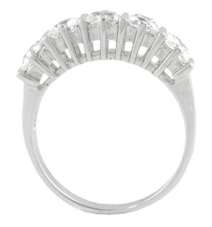 Tressa Sterling Silver Five Princess cut CZ Ring