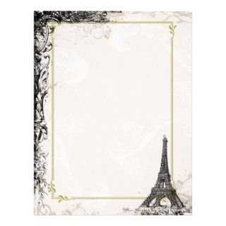 Eiffel Tower French Style Letterhead