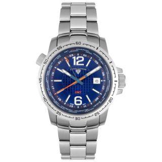 Swiss Legend Mens Stainless Steel GMT Watch
