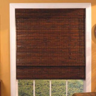 Lewis Hyman 02445 Kona Bamboo Roman Shade with 6 in. Valance   Outdoor