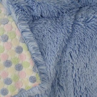 & Co. Shaggy Blue/Baby Candy 43 x 59 Reversible Throw