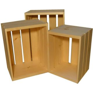 Small Wooden Crate 3 piece Set