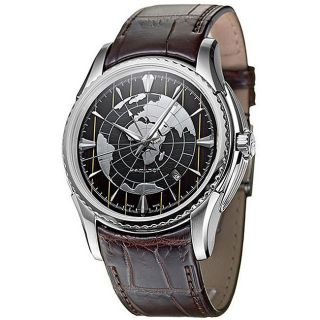 Hamilton Aquariva Mens Stainless Steel GMT Watch