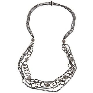Nanni Four layered CZ Chain Necklace