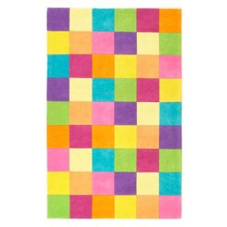 KAS Rugs Kidding Around 420 Girls Color Blocks Area Rug   Childrens