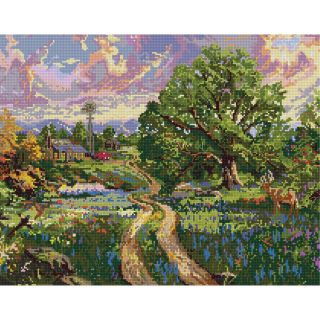 Thomas Kinkade Country Living Counted Cross Stitch Kit 15X12 14