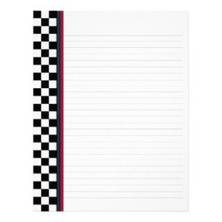 Check with Red Accent Binder Paper Letterhead Template