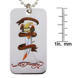 Ed Hardy Death Before Dishonor Eagle Dog Tag Necklace