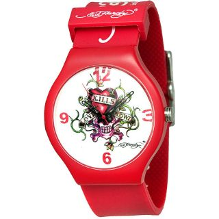 Ed Hardy Mens Spectrum Red Watch
