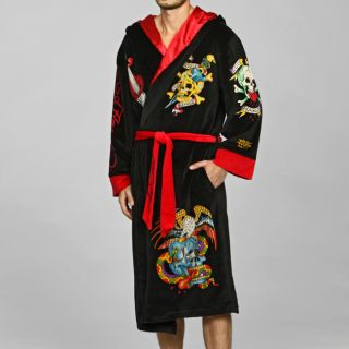 Ed Hardy Mens Hooded Robe