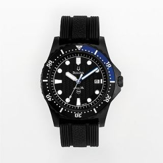 Bulova Marine Star Stainless Steel Black Ion Dive Watch   98B159   Men