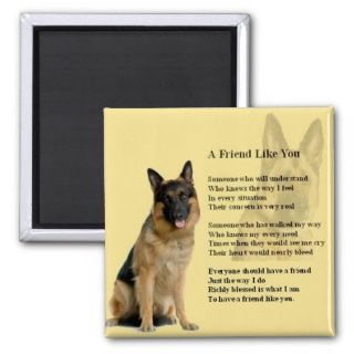 German Shepherd Dog   Friend Poem Magnets