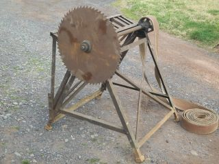 DRIVEN BUZZ SAW tractor hit and miss engine buck wood log splitter