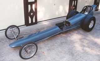 Vintage Front Engine Dragster Body and Chassis