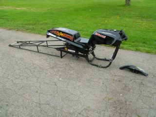 Dragbike KZ Z1 Small Tire Chassis, Body, Wheelie Bars Drag Bike 1000
