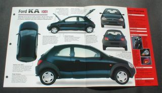 1997 Ford Ka Sedan Unique Imp Brochure 97