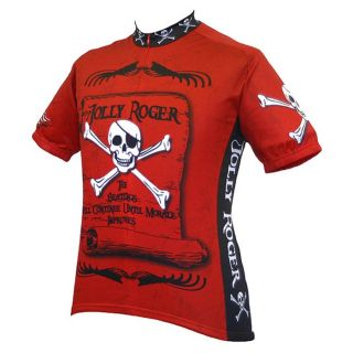 World Jerseys Mens Jolly Roger Pirate Cycling Jer