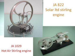 Solar Hot Air Stirling Engine 2 Sets New Stirlingmotor Gift