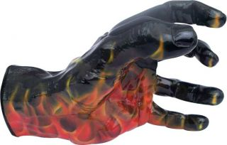 Grip Studios Scoppio Airbrushed Flame Custom Guitar Hanger Left Hand