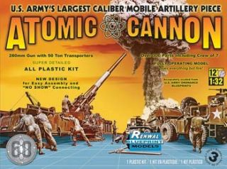 32 US Army Atomic Cannon SSP Revell Model Kit 7818 60th Anniversary