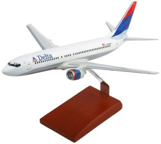 BRAND NEW 1/100 SCALE DELTA AIRLINES BOEING 737 800 SOLID WOOD RESIN